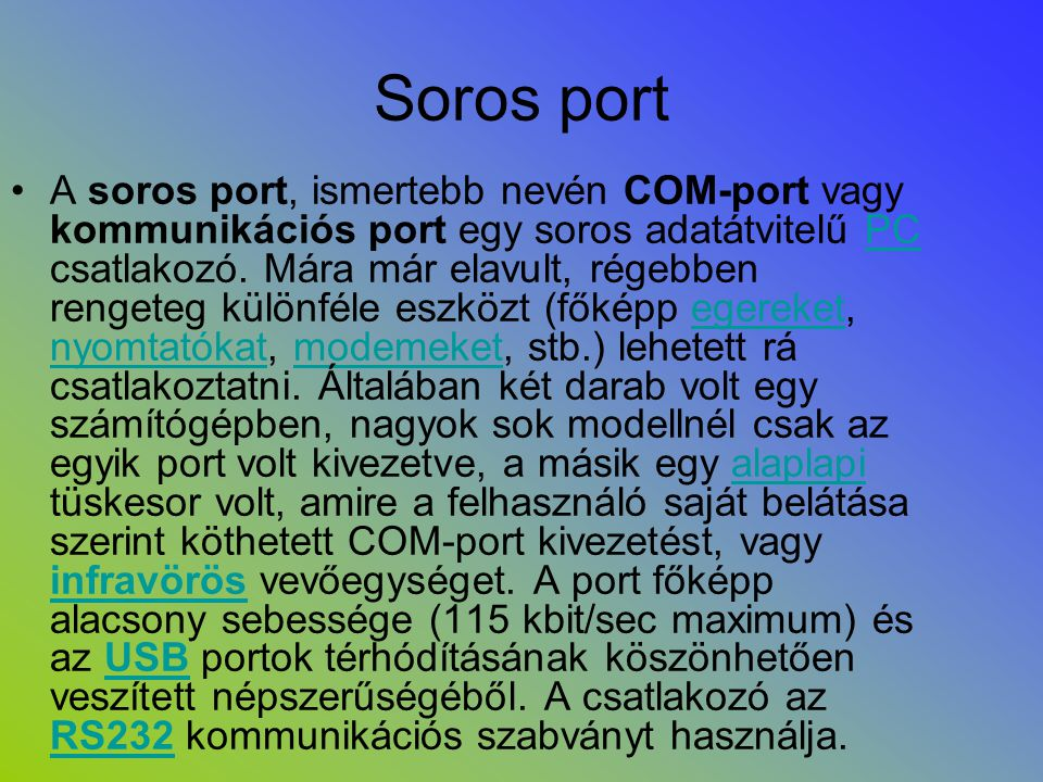 Soros port