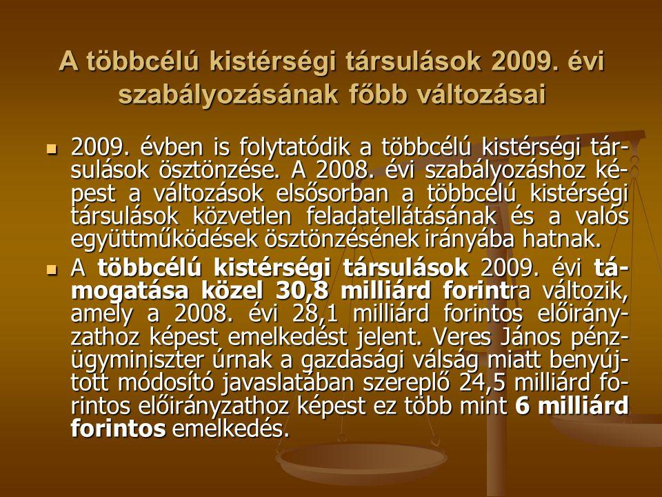 A többcélú kistérségi társulások 2009