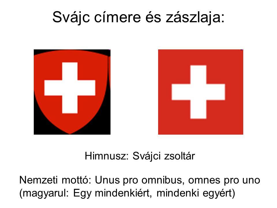 Svájc címere és zászlaja: