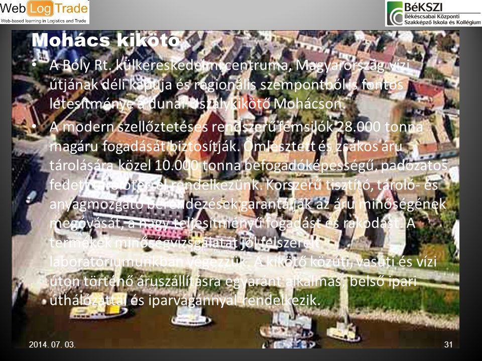 Mohács kikötő