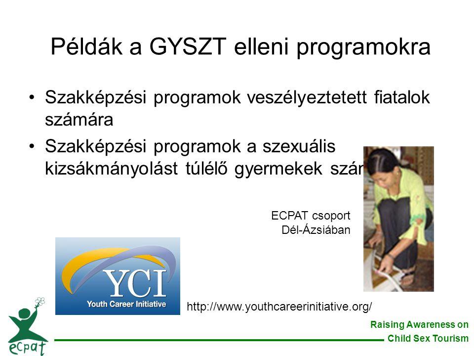 Példák a GYSZT elleni programokra