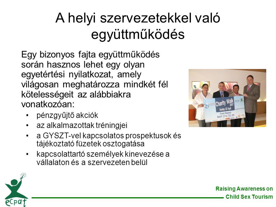 A helyi szervezetekkel való együttműködés