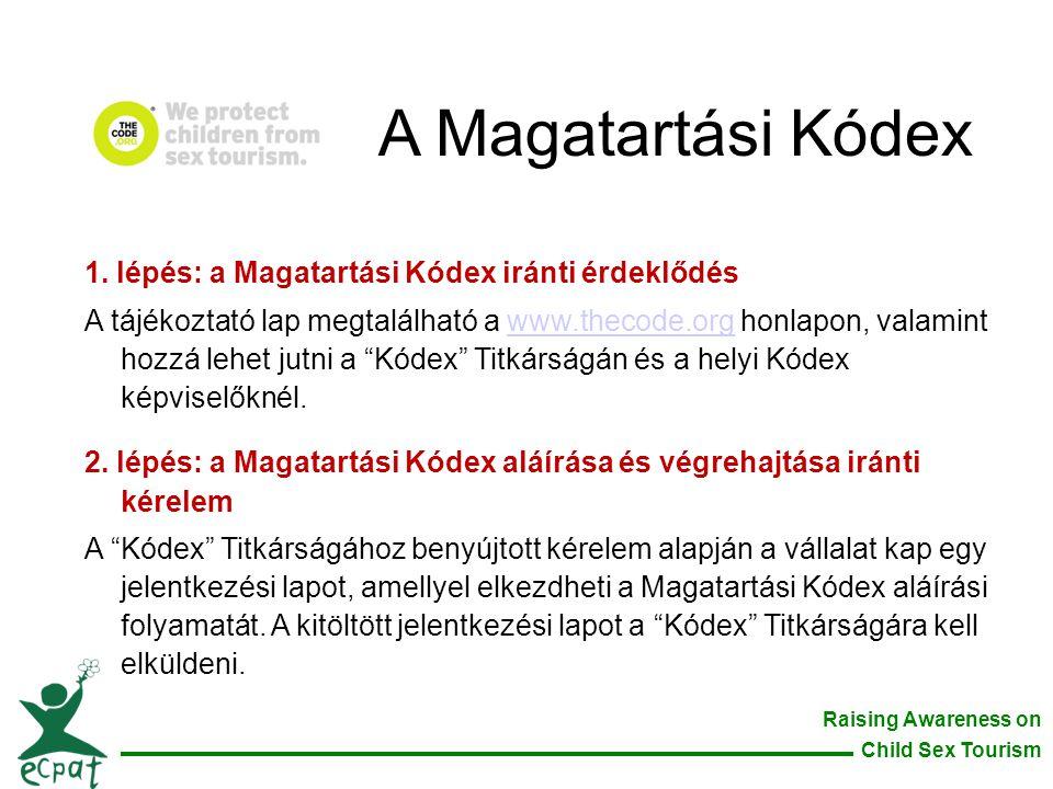 A Magatartási Kódex 1. lépés: a Magatartási Kódex iránti érdeklődés