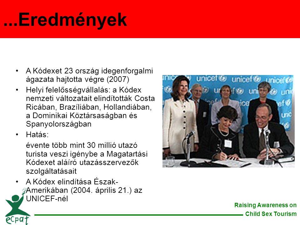 ...Eredmények A Kódexet 23 ország idegenforgalmi ágazata hajtotta végre (2007)