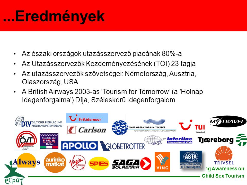...Eredmények Az északi országok utazásszervező piacának 80%-a