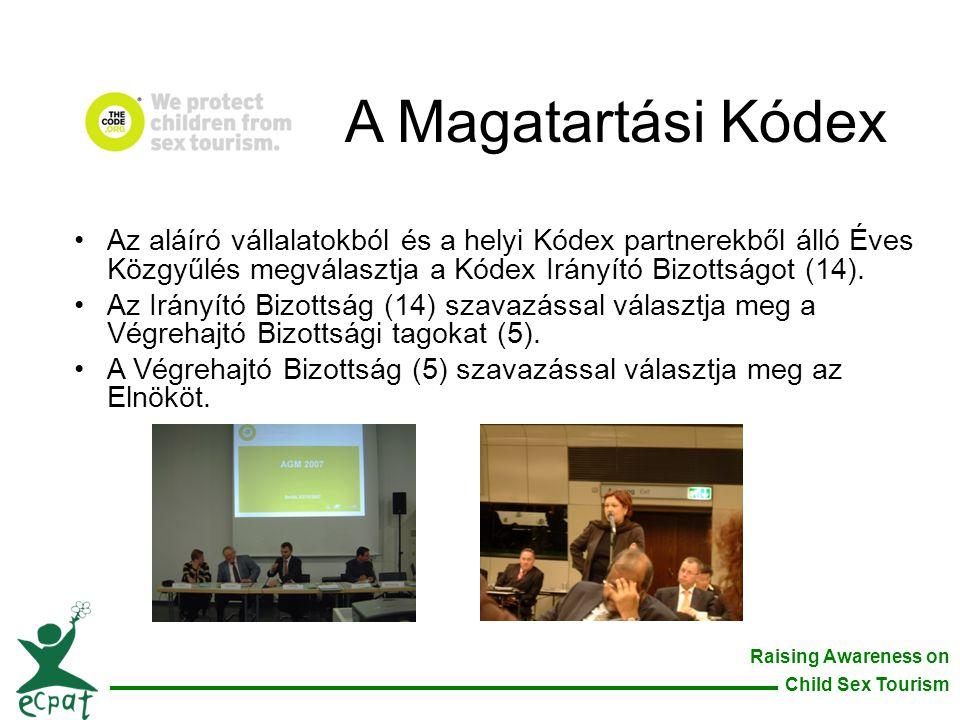 A Magatartási Kódex Az aláíró vállalatokból és a helyi Kódex partnerekből álló Éves Közgyűlés megválasztja a Kódex Irányító Bizottságot (14).