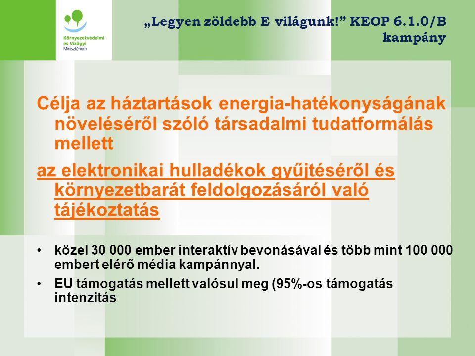"""""""Legyen zöldebb E világunk! KEOP 6.1.0/B kampány"""