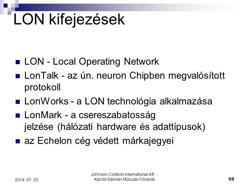 Johnson Controls International Kft. - Kandó Kálmán Műszaki Főiskola