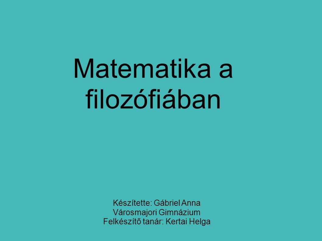 Matematika a filozófiában