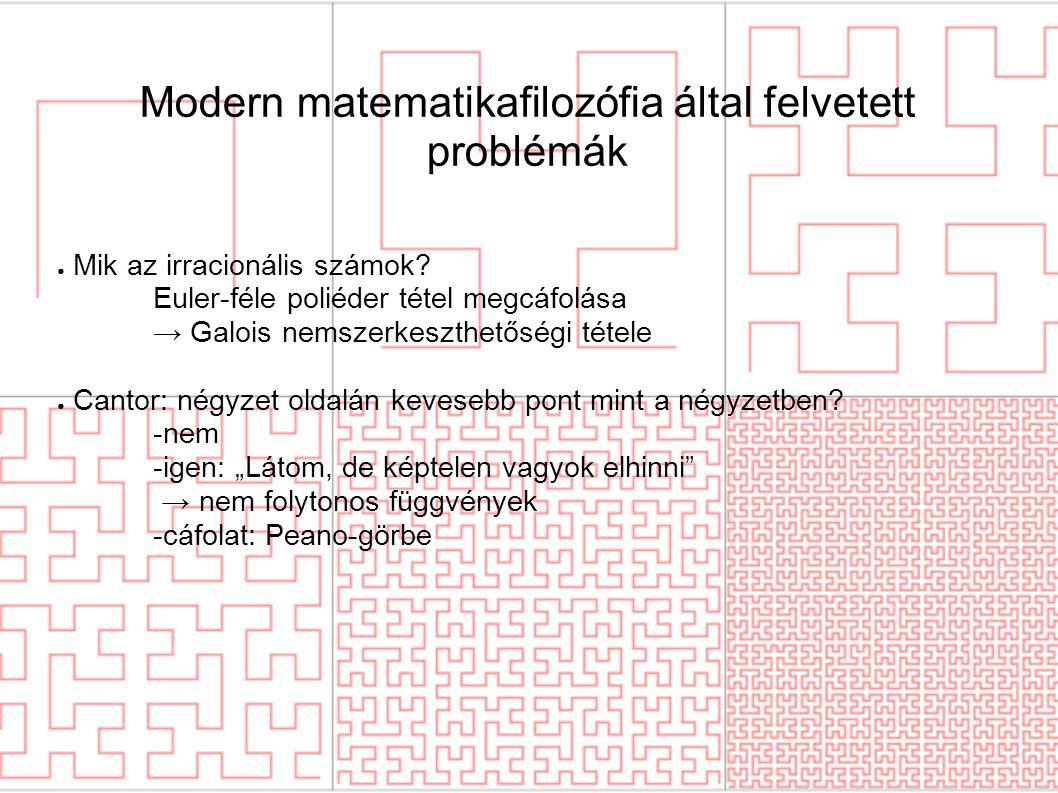Modern matematikafilozófia által felvetett problémák