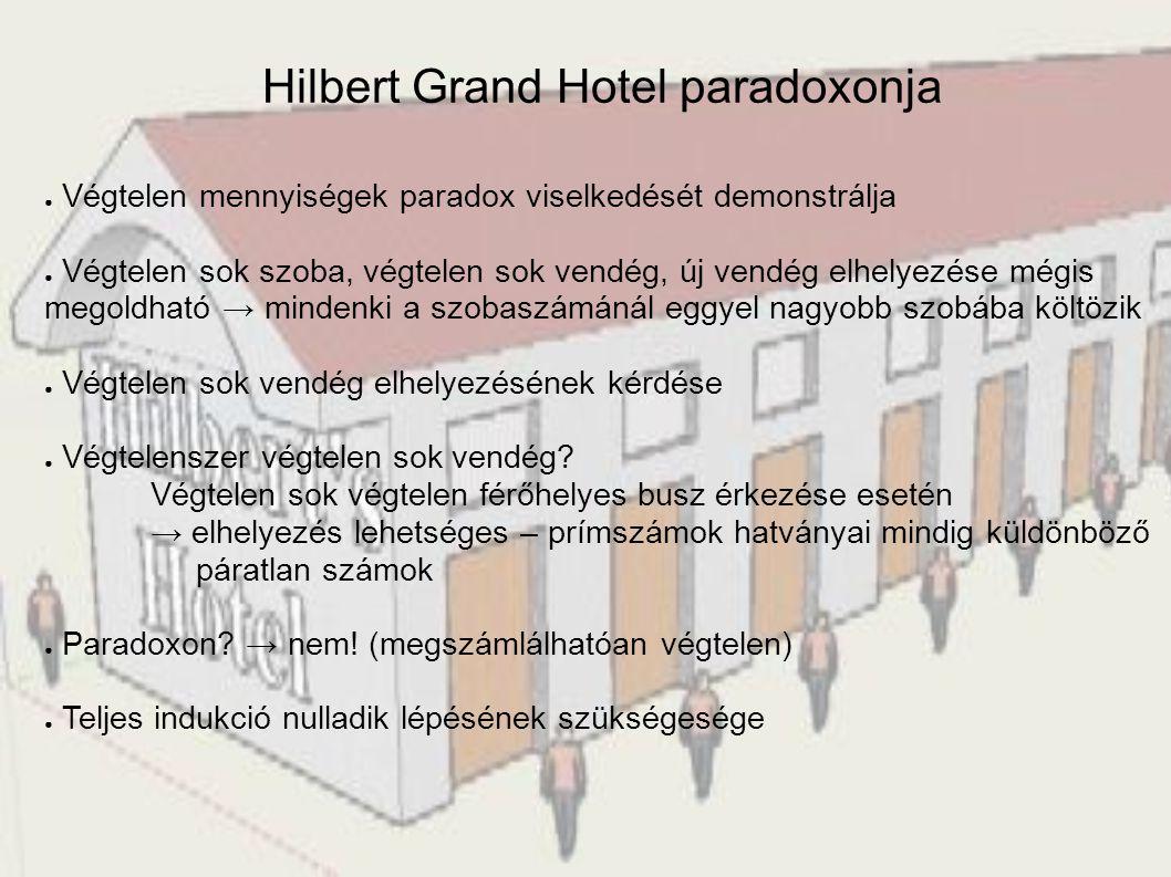 Hilbert Grand Hotel paradoxonja