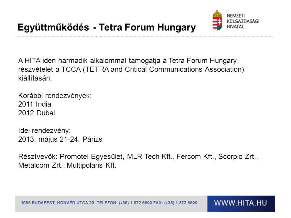 Együttműködés - Tetra Forum Hungary
