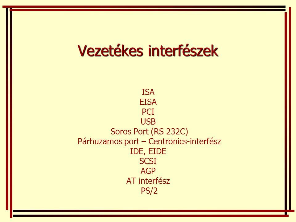 Vezetékes interfészek