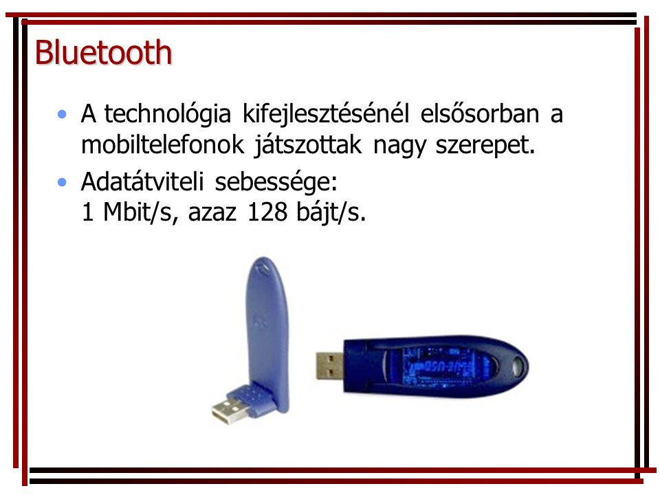 Bluetooth A technológia kifejlesztésénél elsősorban a mobiltelefonok játszottak nagy szerepet.