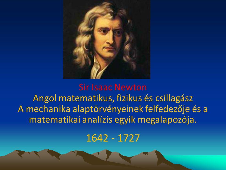 Angol matematikus, fizikus és csillagász
