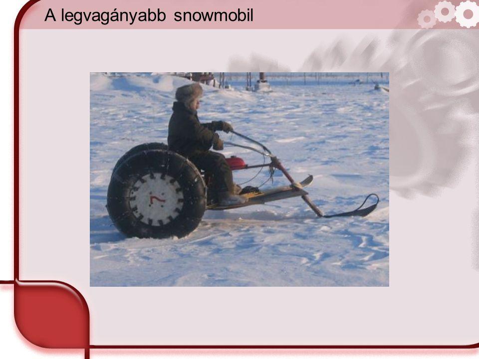 A legvagányabb snowmobil