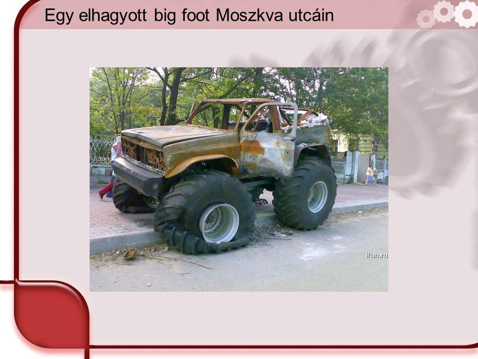 Egy elhagyott big foot Moszkva utcáin