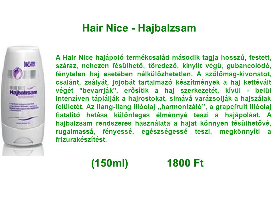 Hair Nice - Hajbalzsam (150ml) 1800 Ft