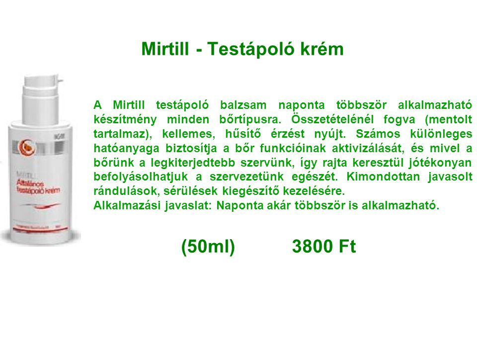 Mirtill - Testápoló krém