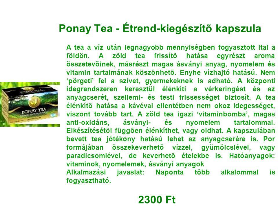 Ponay Tea - Étrend-kiegészítõ kapszula