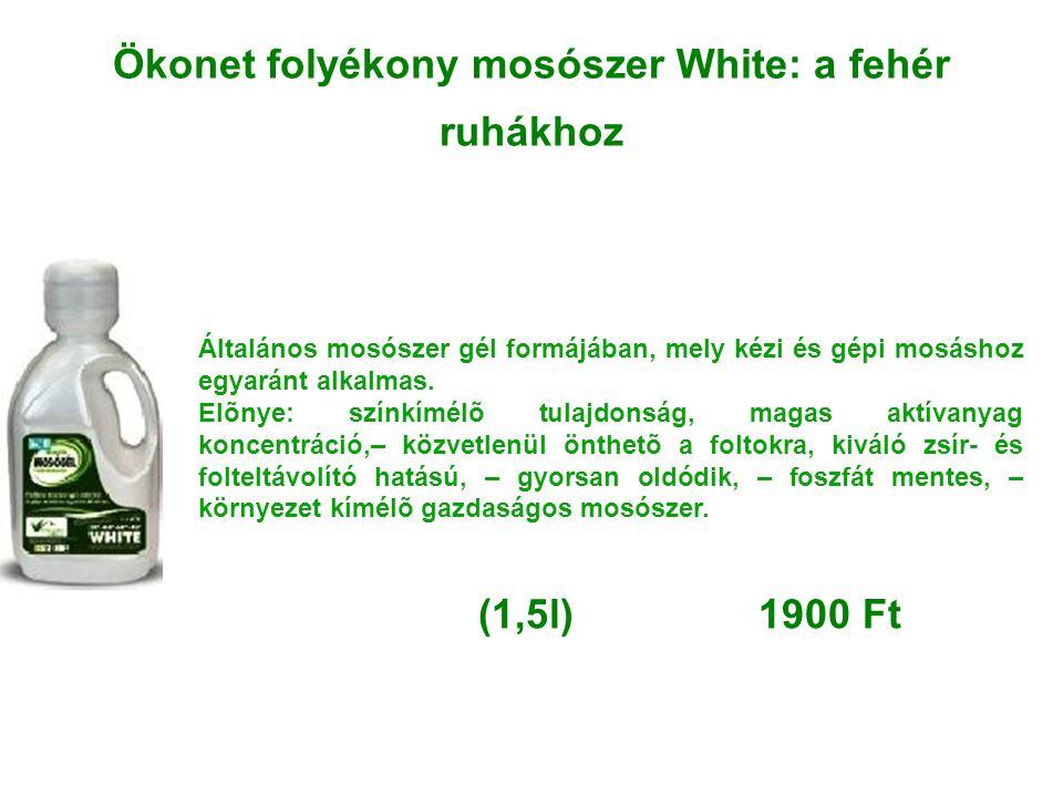 Ökonet folyékony mosószer White: a fehér ruhákhoz