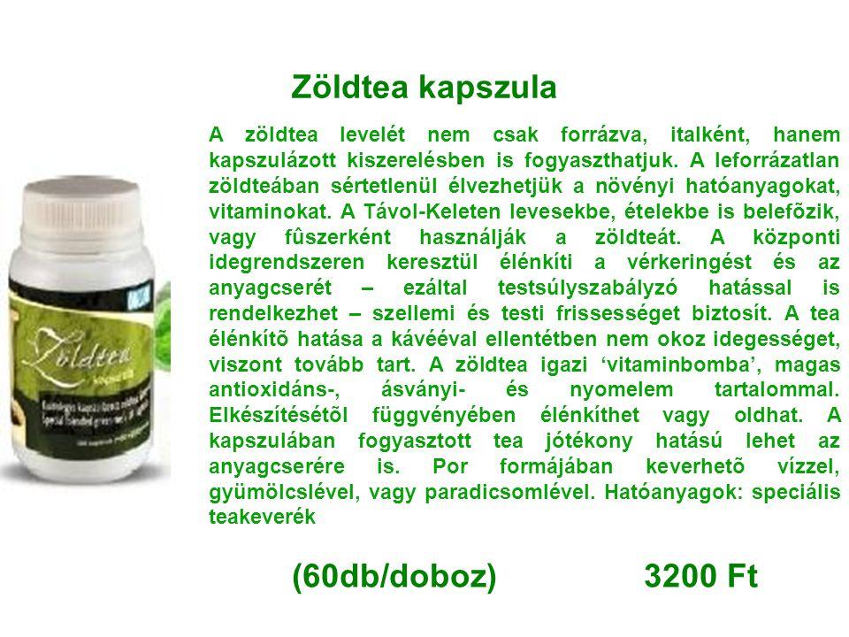 Zöldtea kapszula (60db/doboz) 3200 Ft