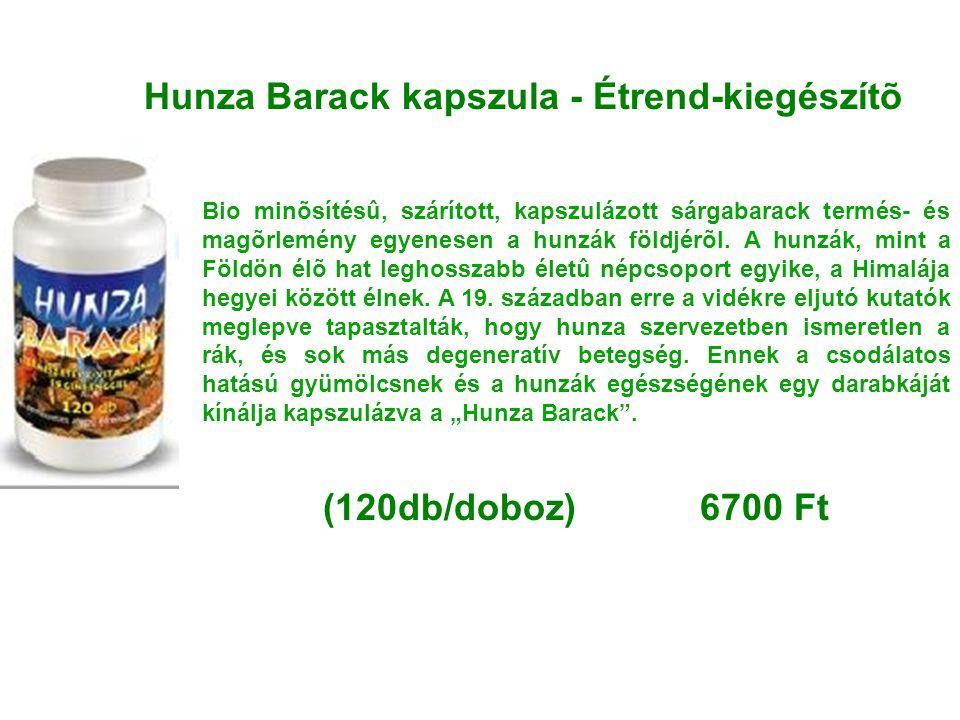Hunza Barack kapszula - Étrend-kiegészítõ