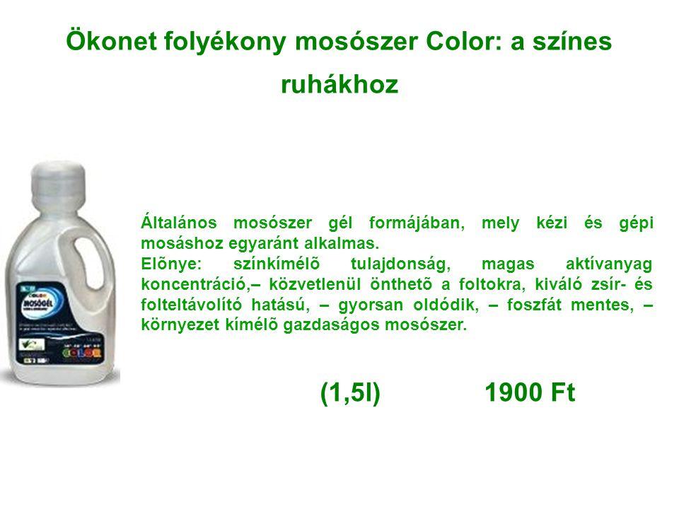 Ökonet folyékony mosószer Color: a színes ruhákhoz
