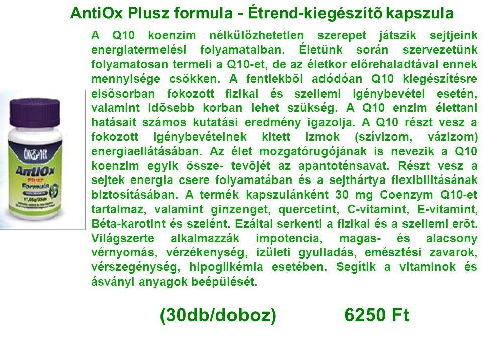 AntiOx Plusz formula - Étrend-kiegészítõ kapszula