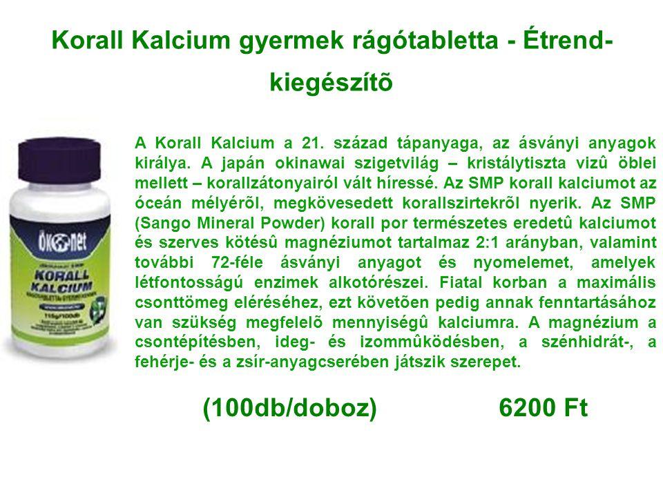 Korall Kalcium gyermek rágótabletta - Étrend-kiegészítõ