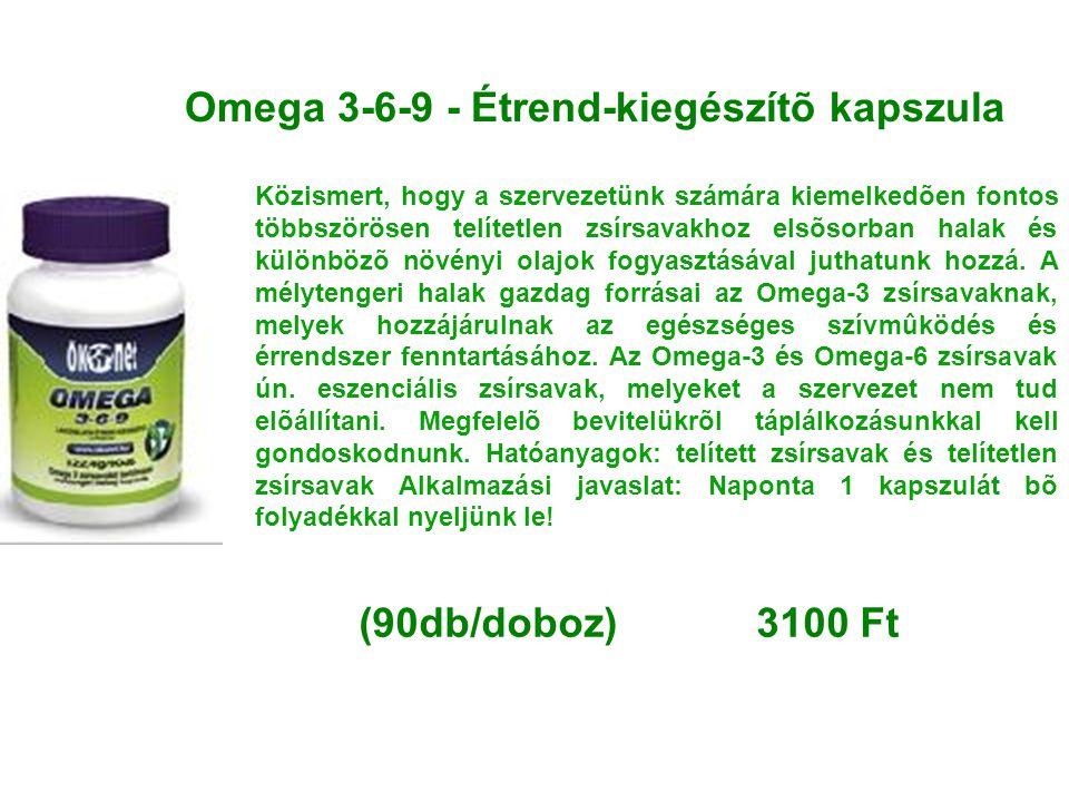 Omega 3-6-9 - Étrend-kiegészítõ kapszula