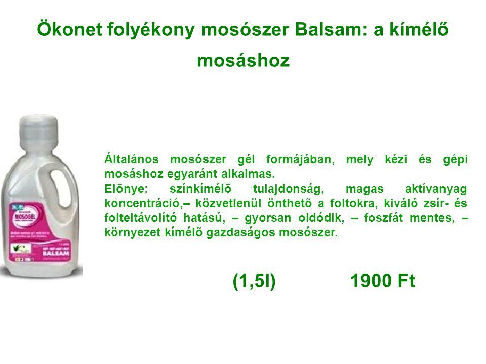 Ökonet folyékony mosószer Balsam: a kímélő mosáshoz