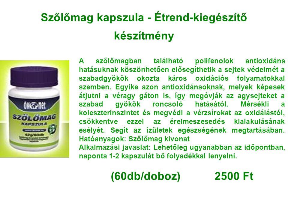 Szőlőmag kapszula - Étrend-kiegészítő készítmény