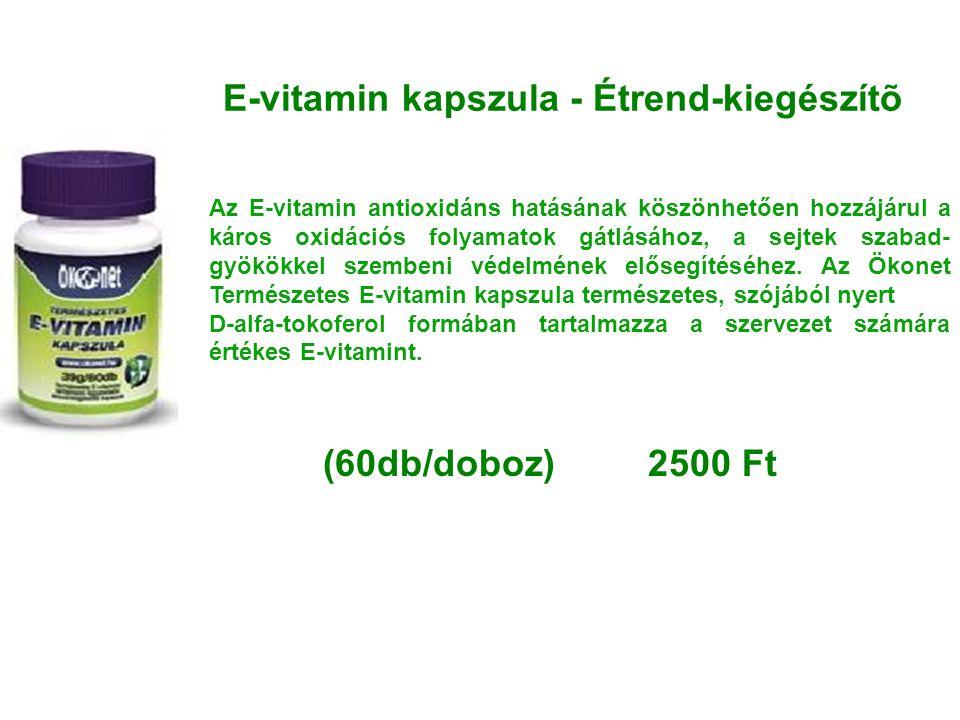 E-vitamin kapszula - Étrend-kiegészítõ