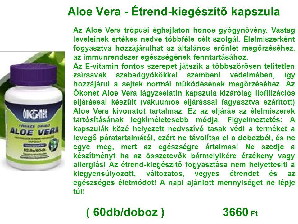 Aloe Vera - Étrend-kiegészítő kapszula