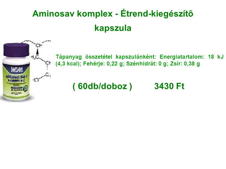 Aminosav komplex - Étrend-kiegészítõ kapszula