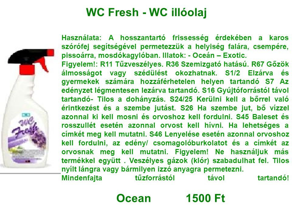 WC Fresh - WC illóolaj