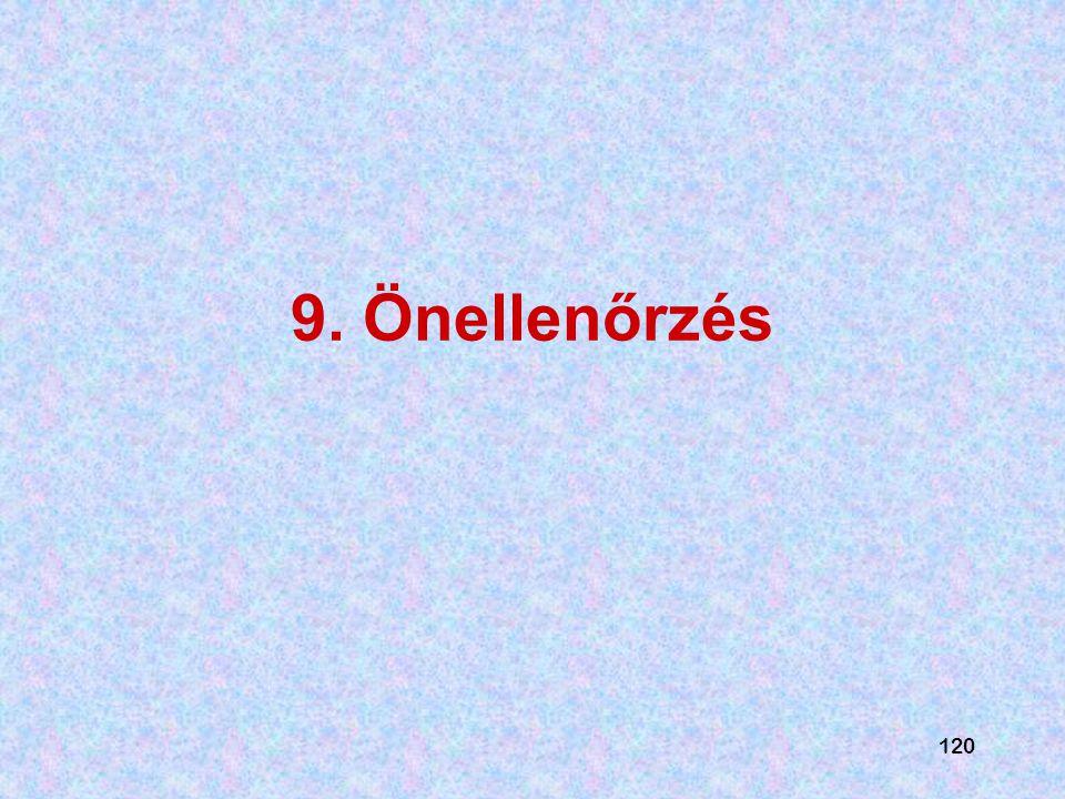 9. Önellenőrzés