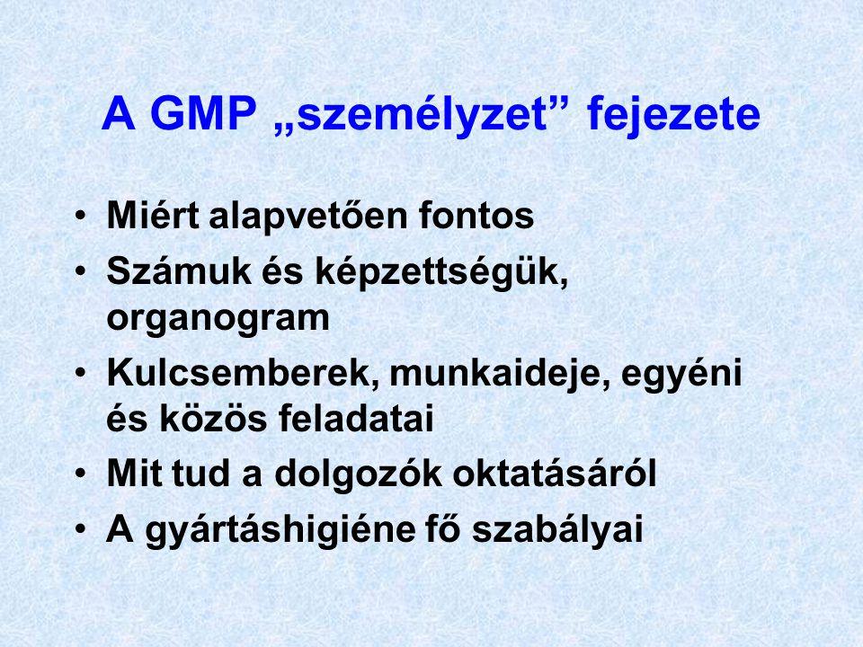 """A GMP """"személyzet fejezete"""
