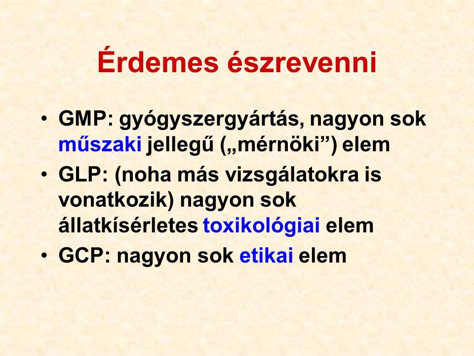"""Érdemes észrevenni GMP: gyógyszergyártás, nagyon sok műszaki jellegű (""""mérnöki ) elem."""