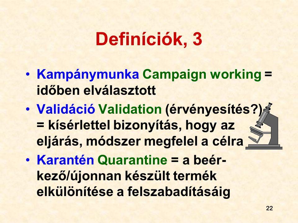 Definíciók, 3 Kampánymunka Campaign working = időben elválasztott