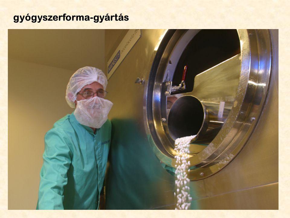 gyógyszerforma-gyártás