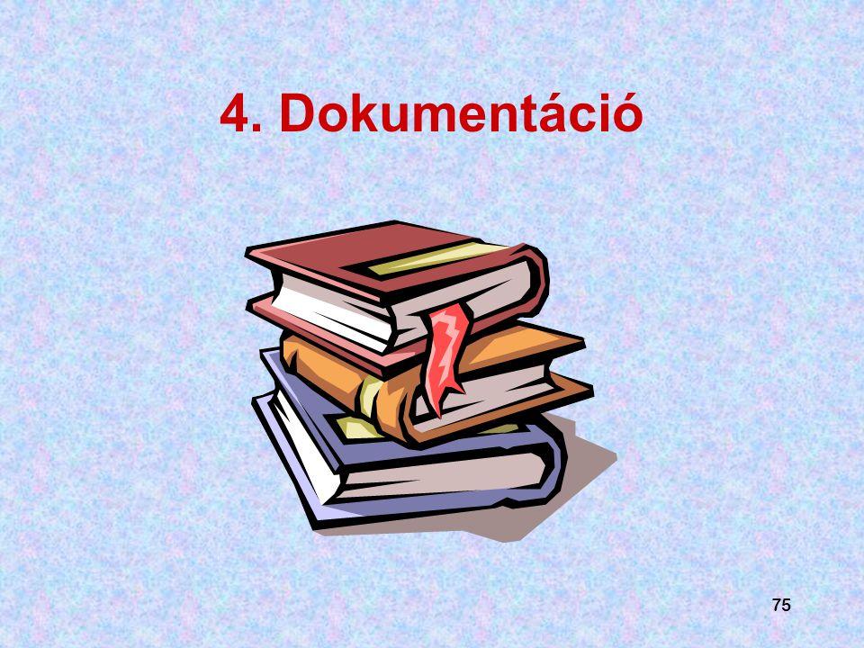 4. Dokumentáció