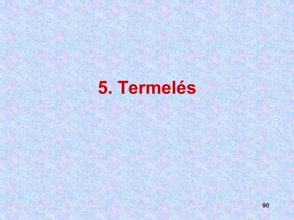 5. Termelés