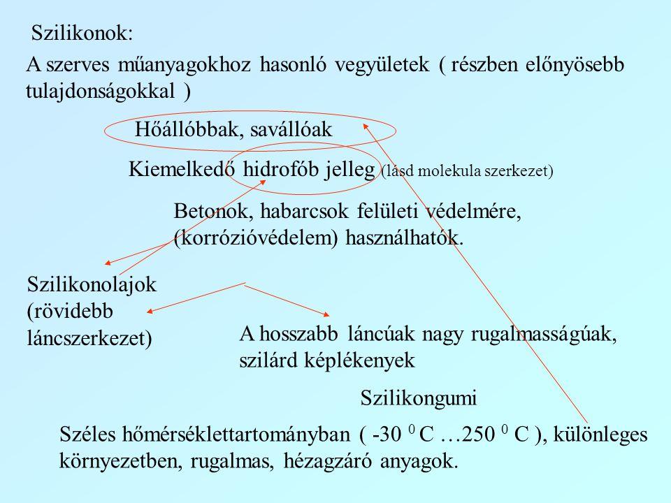 Kiemelkedő hidrofób jelleg (lásd molekula szerkezet)