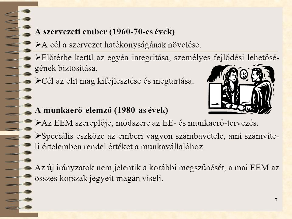 A szervezeti ember (1960-70-es évek)