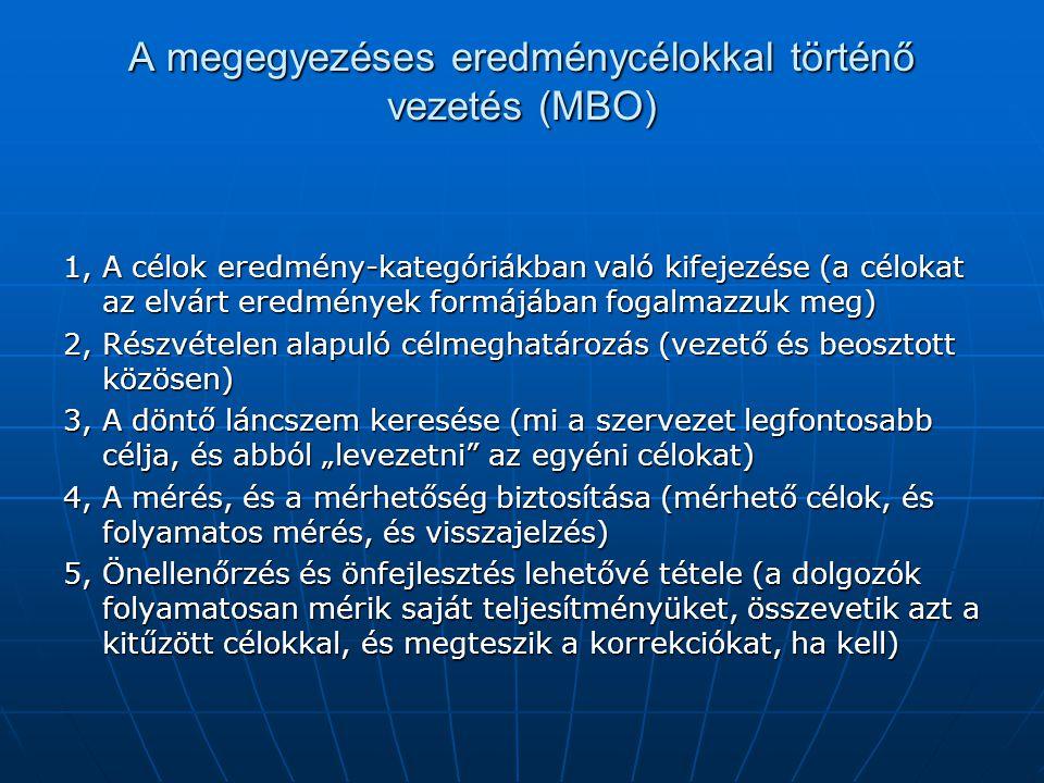 A megegyezéses eredménycélokkal történő vezetés (MBO)