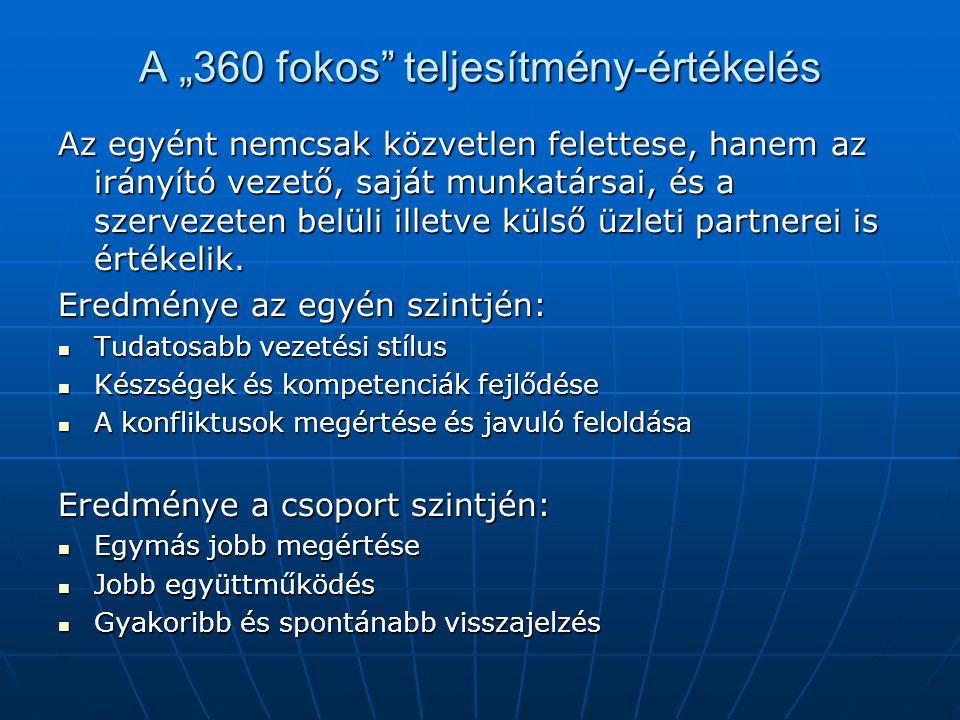 """A """"360 fokos teljesítmény-értékelés"""