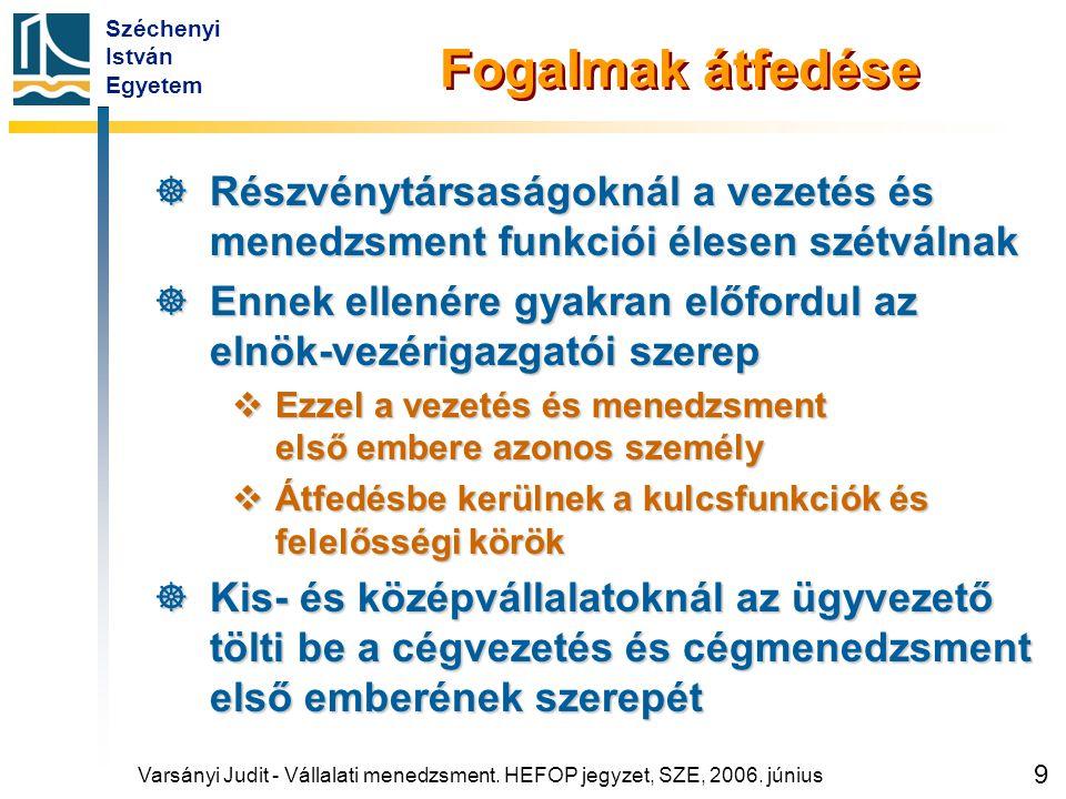 Vállalatkormányzás Magyarországon