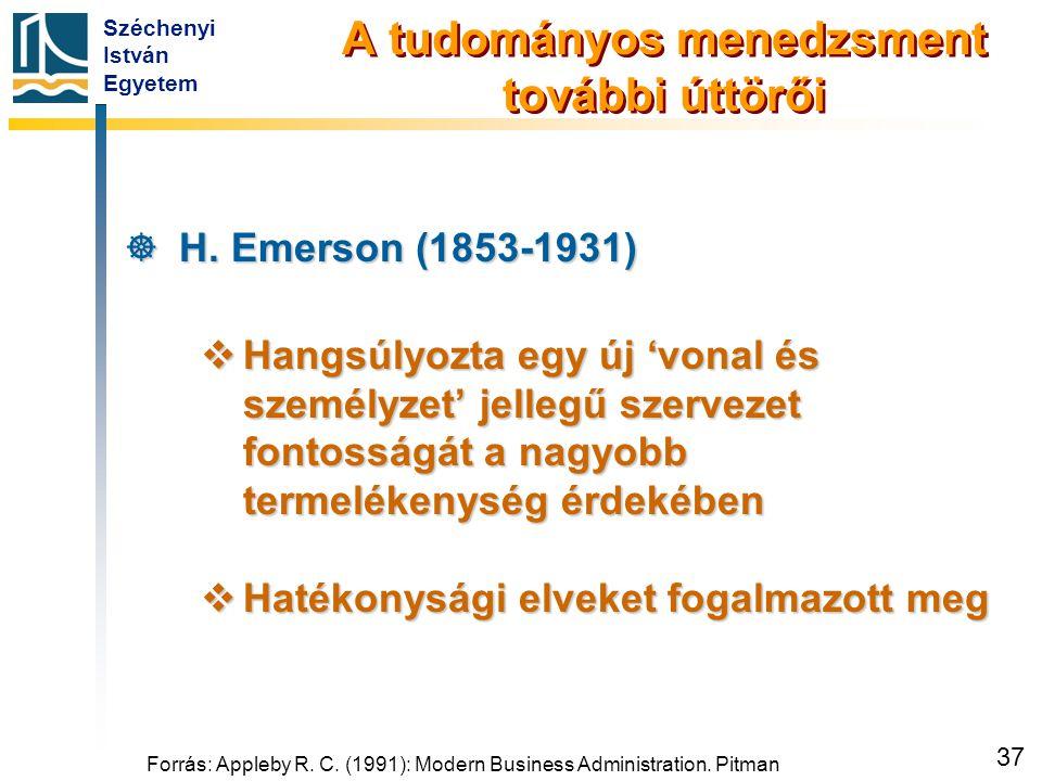 Emerson hatékonysági elvei